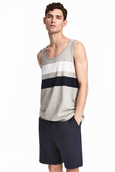 Printed vest top - Grey marl - Men | H&M 1