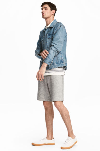 Sweatshirt shorts - Grey marl - Men | H&M