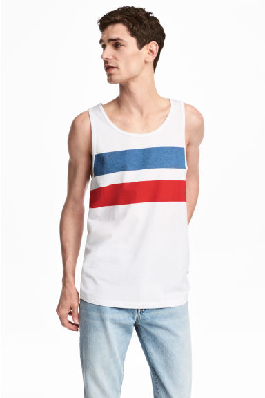 Printed vest top - White - Men | H&M 1