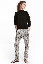 Jersey trousers - Dark grey/Paisley - Ladies | H&M CN 1
