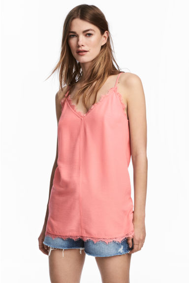 Top in tessuto increspato - Rosa - DONNA | H&M IT 1
