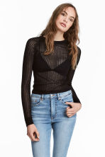 Ribbed jumper - Black - Ladies | H&M 1