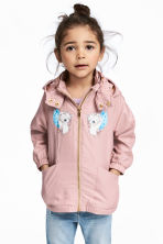 Fleece-lined windproof jacket - Old rose - Kids | H&M CN 1