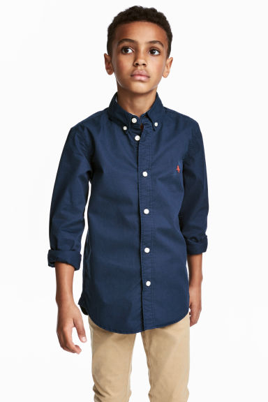 Cotton shirt - Dark blue - Kids | H&M CN 1