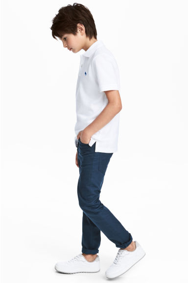 Twill trousers Slim fit - Dark blue - Kids | H&M