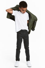 Twillbyxa Slim fit - Svart - Kids | H&M FI 1