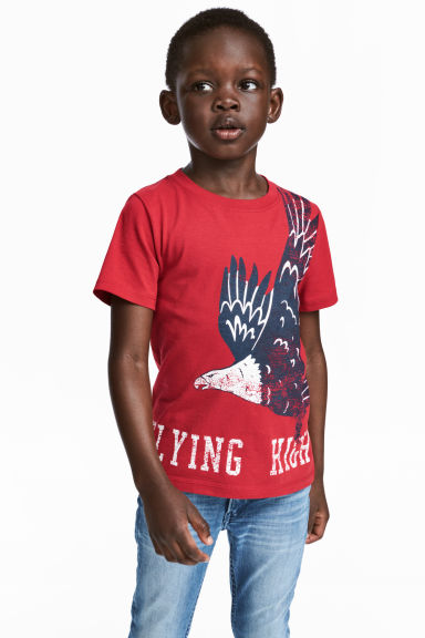 Printed T-shirt - Red - Kids | H&M CN 1