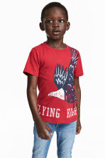 Printed T-shirt - Red -  | H&M CN 1