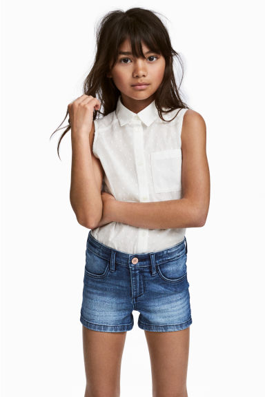 Sleeveless blouse - White -  | H&M 1