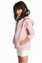 Printed hooded jacket - Dusky pink - Kids | H&M 1