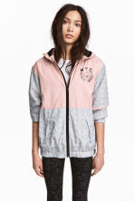 Hooded windproof jacket - Dusky pink -  | H&M CN 1