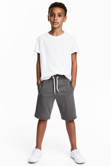 Sweatshirt shorts - Dark grey - Kids | H&M 1