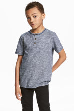Slub jersey T-shirt - Dark blue - Kids | H&M 1