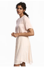 Short-sleeved silk blouse - Powder pink - Ladies | H&M CN 1