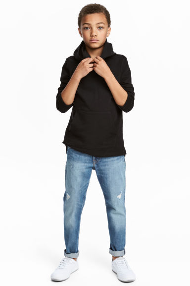 Relaxed Tapered Worn Jeans - Denim blue - Kids | H&M CN 1