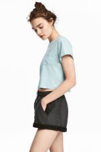 Cropped T-shirt - Mint - Ladies | H&M 1