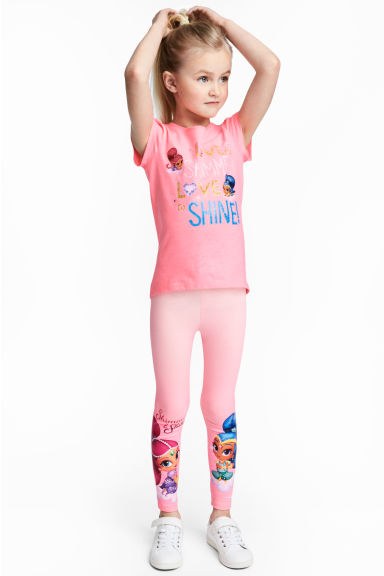 Jersey leggings - Pink/Shimmer and Shine - Kids | H&M CA 1
