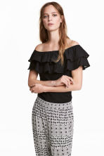 Off-the-shoulder top - Black - Ladies | H&M IE 1