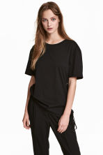 Top with lacing - Black - Ladies | H&M 1