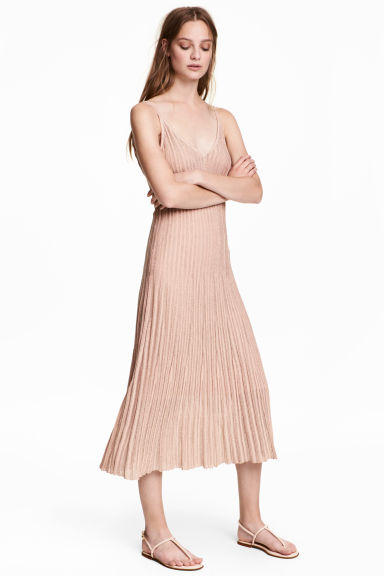 Glittery dress - Powder pink - Ladies | H&M