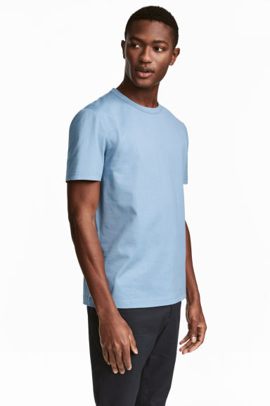 Pima cotton T-shirt - Sky blue - Men | H&M 1
