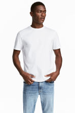 Pima cotton T-shirt - White - Men | H&M 1