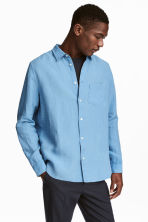 Linen shirt - Sky blue - Men | H&M CN 1
