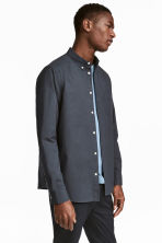 Pima cotton shirt - Dark grey-blue - Men | H&M CN 1