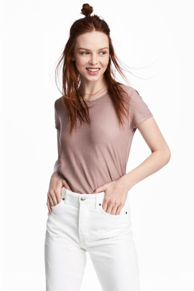 Top en jersey crêpé - Rose ancien -  | H&M BE