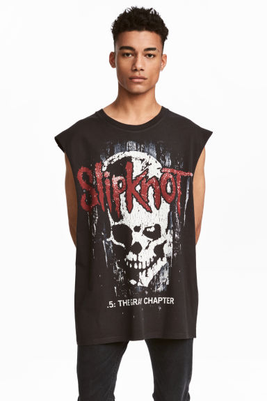 Printed vest top - Black/Slipknot - Men | H&M 1