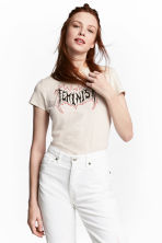 T-shirt with a print motif - Light beige/Feminism - Ladies | H&M CN 1