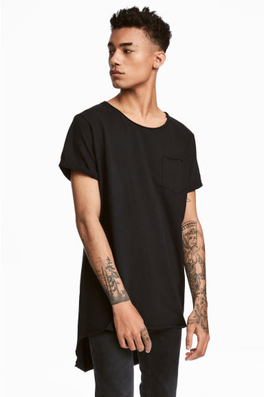 Long T-shirt - Black - Men | H&M CN 1