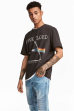 T-shirt with a print motif - Dark grey/Pink Floyd - Men | H&M CN 1