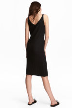 Ribbed Dress - Black - Ladies | H&M CA 1