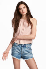 Crinkled top - Powder pink - Ladies | H&M 1