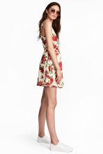 Patterned dress - White/Roses - Ladies | H&M CN 1