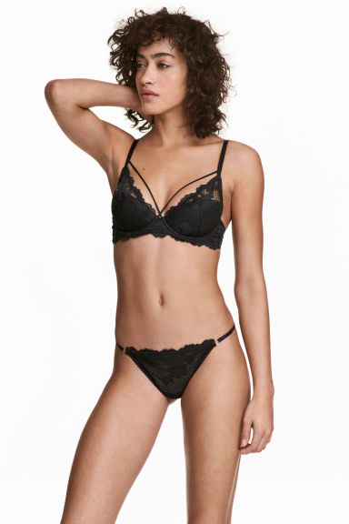 Slip tipo bikini in mesh - Nero - DONNA | H&M IT 1