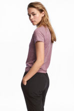 Seamless sports top - Light purple marl - Ladies | H&M IE 1