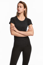 Seamless sports top - Dark grey marl - Ladies | H&M CN 1