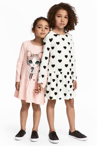 2-pack jersey dresses - Light pink/Cat -  | H&M
