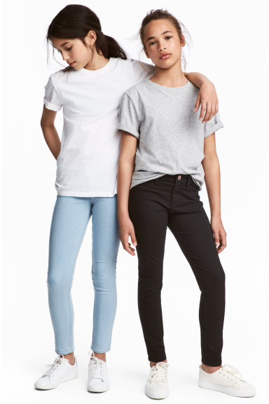 Lot de 2 Skinny Fit Jeans - Bleu denim clair/noir -  | H&M BE