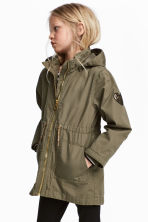 Parka with a hood - Khaki green - Kids | H&M CN 1