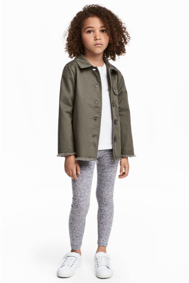 Jersey leggings - Light grey marl - Kids | H&M 1