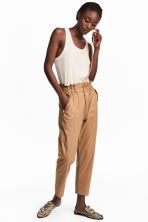 Premium cotton-blend trousers  - Beige - Ladies | H&M CA 1