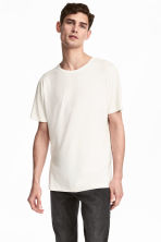 Viscose jersey T-shirt - Natural white - Men | H&M CN 1