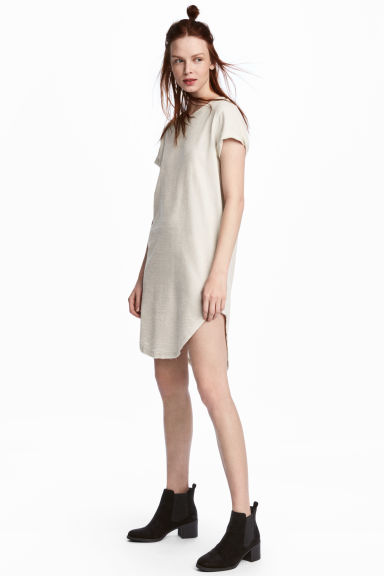 Sweatshirt dress - Light beige - Ladies | H&M