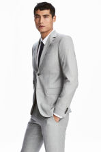 Wool jacket Slim fit - Light grey - Men | H&M 1