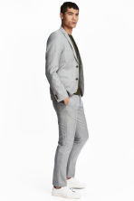 Wool suit trousers Slim fit - Light grey - Men | H&M 1