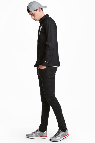 Super Skinny Low Jeans - 牛仔黑 - Men | H&M CN