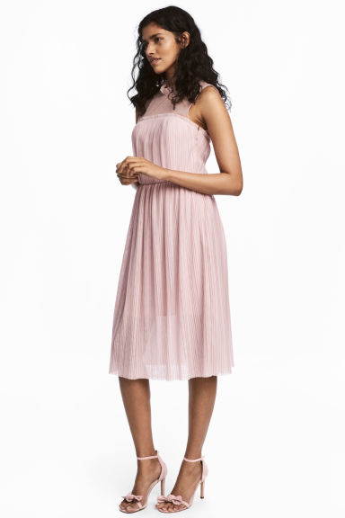 Pleated dress - Light pink -  | H&M GB